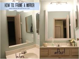 diy bathroom mirror ideas catchy diy bathroom mirror frame ideas with framing a large bathroom