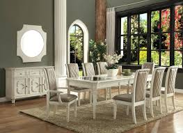 antique white round dining table set country room furniture sets