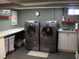 paint the walls basement laundry room home interiors