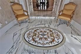 white marble floor medallion polished flooring marble medallion