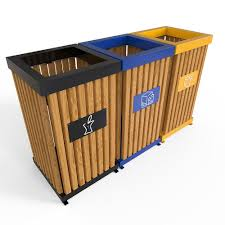 boras m outdoor recycling bins made from sheet metal pine wood