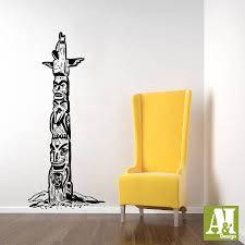 native american indian totem pole wall vinyl decal sticker zoom