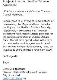 Director Of Development Resume Bronin Announces Hartford Stadium Deal Signed Allowing