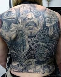 Back Pieces Tattoos 78 Creeptastic Horror Tattoos For Back