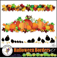 halloween borders set 1 14 png clipart files instant