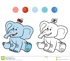 coloring book for children elephant stock vector image 62895908