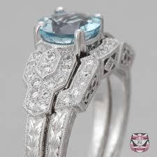 aquamarine wedding antique aquamarine ring deco aquamarine wedding set
