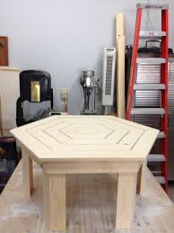 Design For Octagon Picnic Table by Ana White Hexagon Coffee Table For The Patio Diy Projects