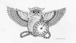 40 awesome owl clock tattoos