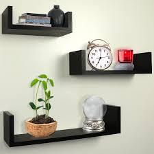 Wall Shelves Decor by Amazon Com Greenco Set Of 3 Floating U Shelves Espresso Finish