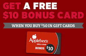 applebee s gift cards gift card bonus freebies deals and rewards