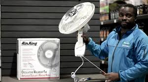 Wall Mounted Oscillating Fans Air King Oscillating Wall Mounted Fan Youtube