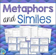similes and metaphors figurative language task cards