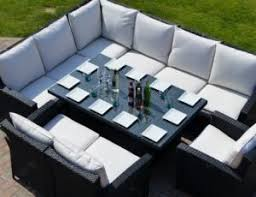 Outdoor Rattan Corner Sofa Outdoor Rattan Corner Dining Set In Black Porch Furniture