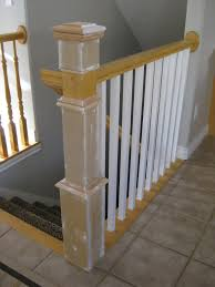How To Refinish A Wood Banister Remodelaholic Stair Banister Renovation Using Existing Newel