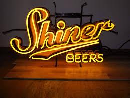 l k shiner beer neon light up sign game room man cave spoetzl