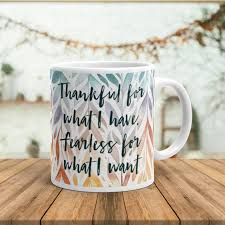 thanksgiving mug thanksgiving mug ceramic mug with quote inspirational mug with