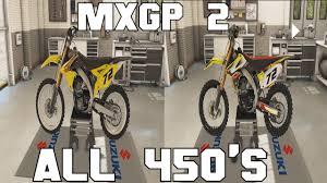 custom motocross bikes mxgp 2 all 450 bikes stock and custom youtube