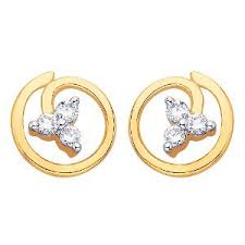 d damas gold earrings d damas gold diamond earrings dde02348 gold earrings