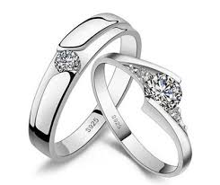 cheap wedding rings for him and cheap s matching cz promise rings set for him and in