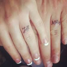Wedding Ring Finger by Wedding Band Tattoos For Romantic Couples