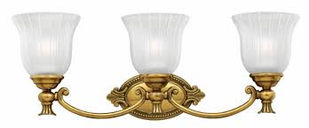 Brass Bathroom Lighting Fixtures by Burnished Brass Francoise U003e Interior Wall Mount