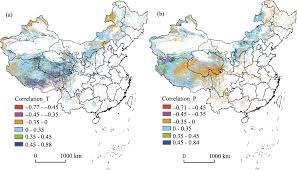 Kunlun Mountains Map Grassland Coverage Inter Annual Variation And Its Coupling