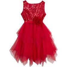 rare editions toddler girls red sequin rosette christmas dress 3t