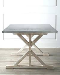 steel top dining table dining table stainless steel top dining table pottery barn