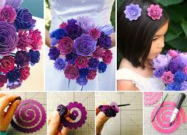 paper flower bouquet wonderful diy gorgeous paper flower bouquet for wedding