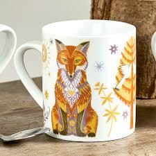 fox mug wildwood fox mug mugs culture vulture direct