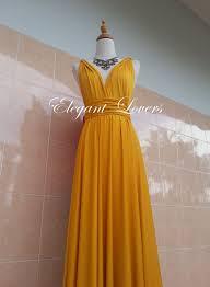 golden yellow color bridesmaid dress wedding by elegantlovers