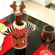 wine sets christmas products elk wine bottle sets christmas decorations