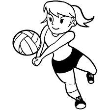 playing voleyball coloring pages wecoloringpage