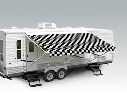 Carefree Camper Awnings Carefree Ju179a00 Replacement Rv Awning Fabric 17 U0027 Checkered