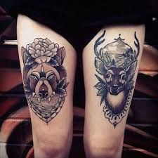 nice tattoos on leg cool deer tattoos pictures to pin on