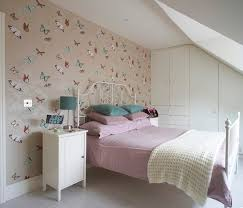 girls bedroom decorating ideas with wallpaper decor home