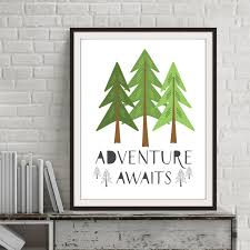Aliexpresscom  Buy Adventure Awaits Quote Pine Trees Canvas - Canvas art for kids rooms