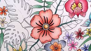 color book com how i color flowers in the magical jungle coloring book selva