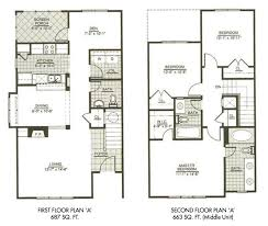 Three Bedroom Townhome Tt Pinterest Third Bedrooms And House Small Town Home Plans