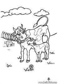 cow with calf coloring pages hellokids com