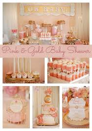 gold and pink baby shower pink and gold baby shower pretty my party