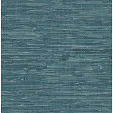 shop brewster wallcovering ami teal non woven grasscloth wallpaper