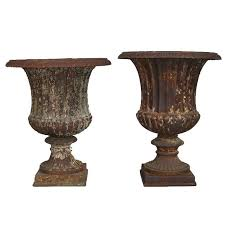 urns for sale 2 cast iron classical garden urns for sale at 1stdibs