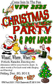vfw 2323 christmas party and pot luck friday dec 20 vfw 2323