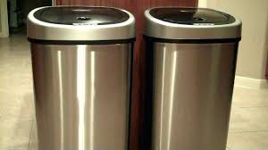 kitchen trash can storage cabinet wooden trash can holder plans zoom wooden kitchen garbage can