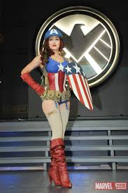 Captain Marvel Halloween Costume 1940 U0027s Female Captain America Marvel Costume Tutifruti 1