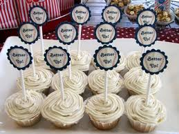bridal shower picture of baseball themed bridal shower cupcakes