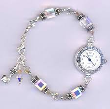 swarovski crystal bracelet watches images Unique and beautiful swarovski crystal beaded bracelet watch jpg