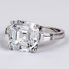 baguette ring asscher cut cz baguette engagement solitaire ring mystique of